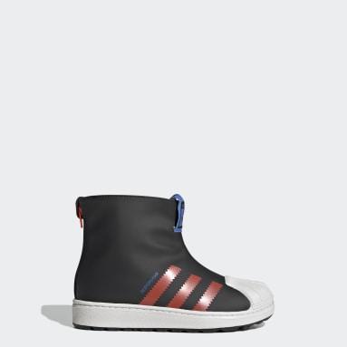 Children Originals Black Superstar 360 Rain Boots