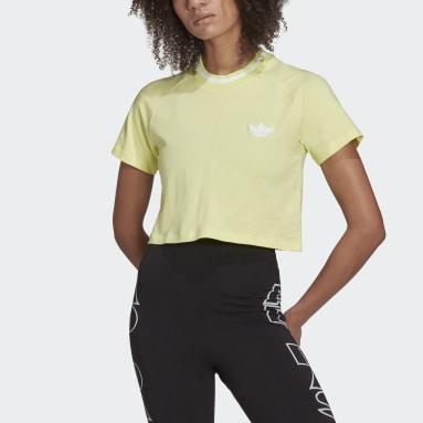 Women's Originals Yellow Crop Top Rib Tee