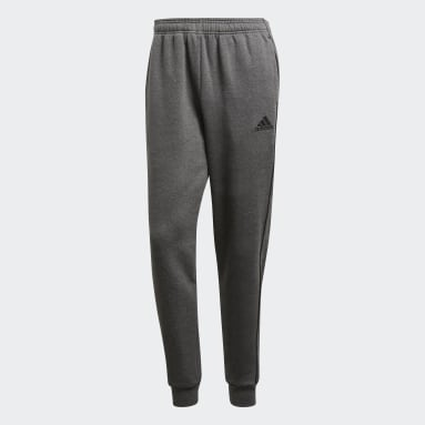 Men Gym & Training Grey Core 18 Sweat Tracksuit Bottoms