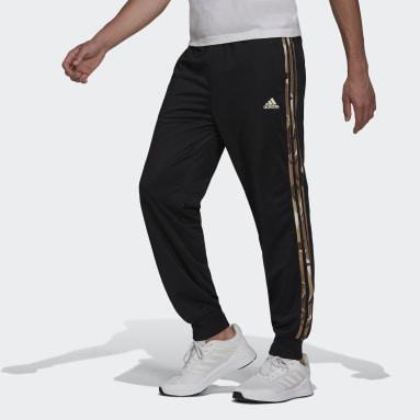 Pantalon de survêtement Primegreen Essentials Warm-Up Tapered 3-Stripes Camo noir Hommes Sport Inspired