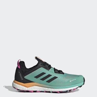 Women TERREX Green Terrex Agravic Flow GORE-TEX Trail Running Shoes