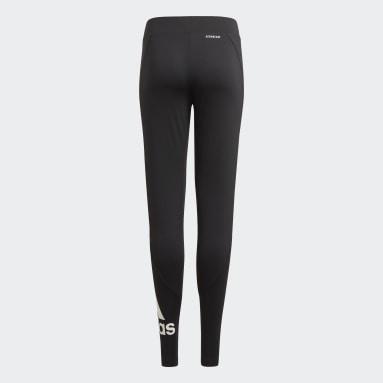 Girls Lifestyle Black Designed 2 Move Tights