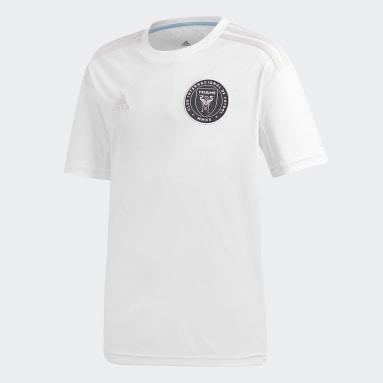 Camiseta primera equipación Inter Miami CF Blanco Niño Fútbol