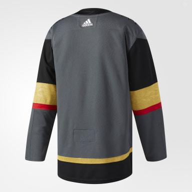 Maillot Golden Knights Domicile Authentique Pro gris Hockey