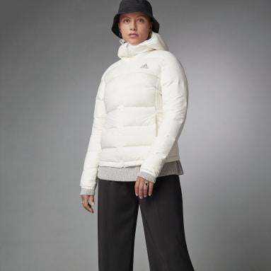 Kvinder Overtøj Med Gadestil Hvid Helionic dunjakke