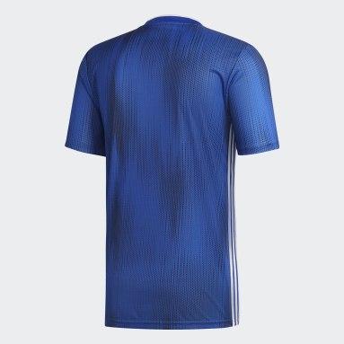 Camiseta Tiro 19 Azul Hombre Fútbol