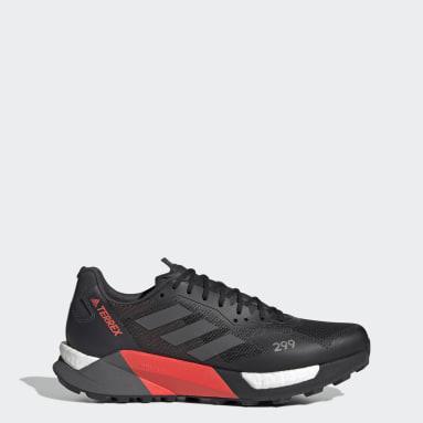 Men TERREX Black Terrex Agravic Ultra Trail Running Shoes
