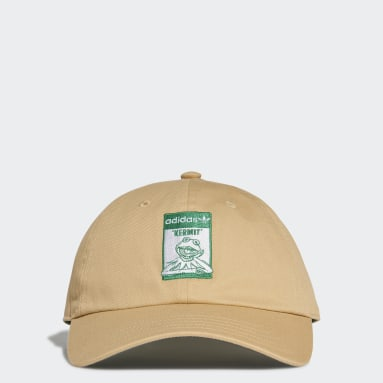 Originals สีเบจ หมวกแก๊ปปีกโค้ง Not Easy Being Green