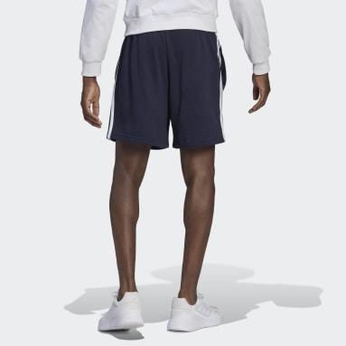 Shorts Essentials 3 Franjas Felpa Francesa Azul Hombre Essentials