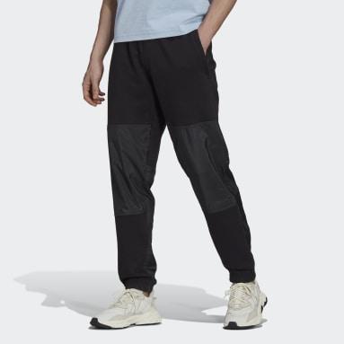 Men's Originals Black adidas Adventure Futura Blocked Sweat Pants