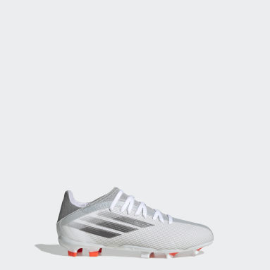 Kids Football White X Speedflow.3 Firm Ground Boots