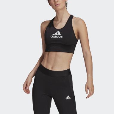Women Yoga Black AEROREADY Designed to Move Primegreen Training Logo Bra Top