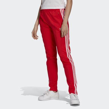 Pants Deportivos SST Primeblue Rojo Mujer Originals