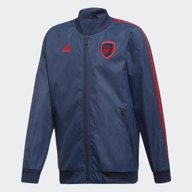 Boys Fodbold Blå Arsenal anthem-jakke