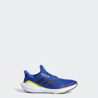 Children Running Blue EQ21 Run Shoes