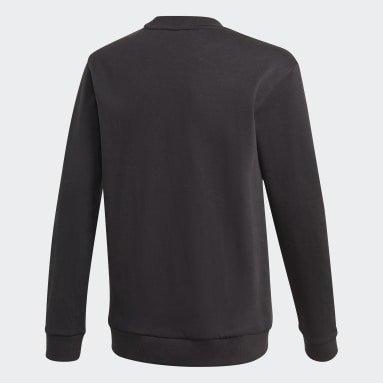 Youth 8-16 Years Training Black Logo Crew Sweatshirt