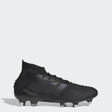 Bota de fútbol Predator 19.1 césped natural húmedo Negro Mujer Fútbol