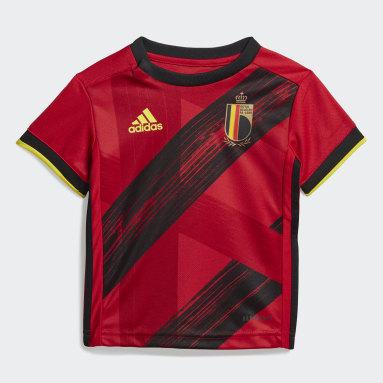 Ensemble bébés Belgique Domicile Rouge Enfants Football