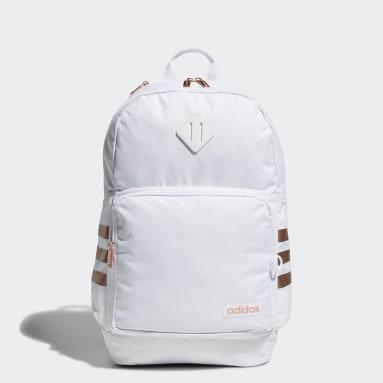 Training White Classic 3-Stripes Backpack