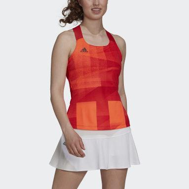 Women's Tennis Red Tennis Primeblue Tokyo HEAT.RDY Y-Tank Top
