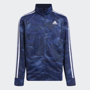 Youth Training Blue Camo Tricot Jacket