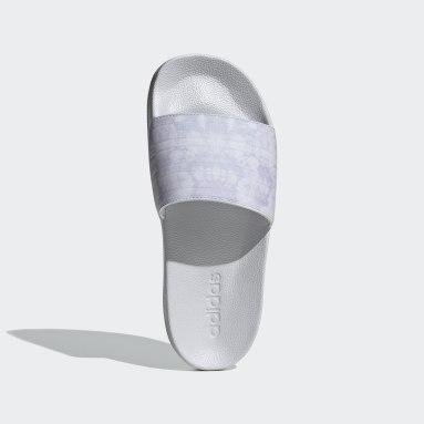 Ženy Plavání šedá Pantofle adilette Shower