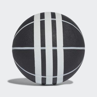 Balón de Básquet Rubber X 3 Franjas (UNISEX) Negro Basketball