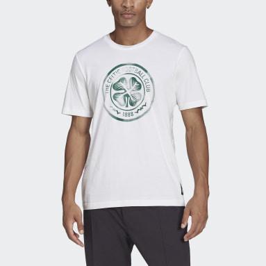 Mænd Fodbold Hvid Celtic FC T-shirt