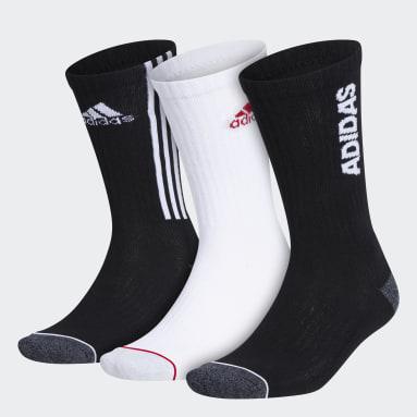 Men's Training Black Tiro Cushioned Crew Socks 3 Pairs