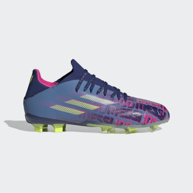 Kinderen Voetbal Blauw X Speedflow Messi.1 Firm Ground Voetbalschoenen