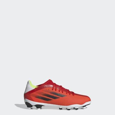 Kinder Fußball X Speedflow.3 MG Fußballschuh Rot