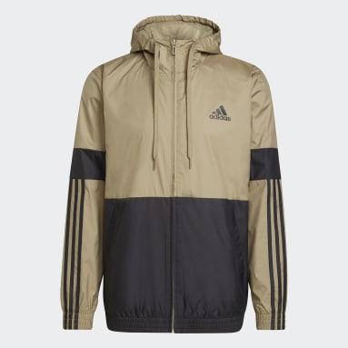 Men's sport_inspired Green Essentials Fleece Windbreaker