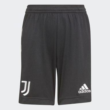 Děti Fotbal černá Venkovní šortky Juventus 21/22