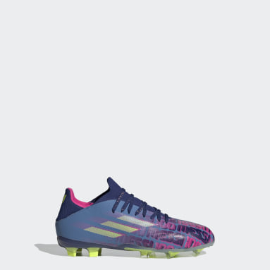 Kids Football Blue X Speedflow Messi.1 Firm Ground Boots