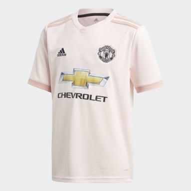Jersey de Visitante Manchester United Replica (UNISEX) Rosa Niño Fútbol