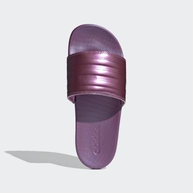 Kvinder Svømning Pink adilette Comfort badesandaler