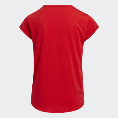 Youth Running Red Graphic Scoop Tee