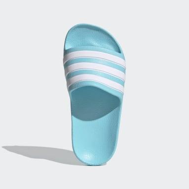 เด็ก ว่ายน้ำ สีเทอร์คอยส์ รองเท้าแตะ Adilette Aqua
