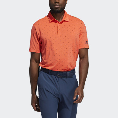 Men's Golf Red Ultimate365 Printed Polo Shirt