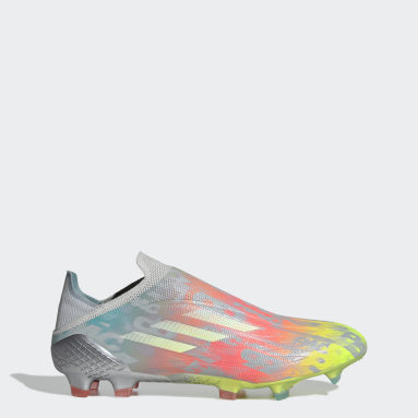 Fotbal šedá Kopačky X SPEEDFLOW+ FG