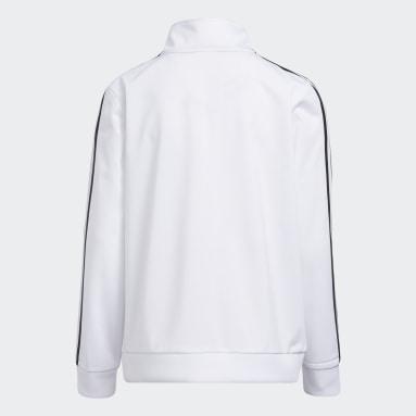 Youth Training White Iconic Tricot Jacket (Extended Size)