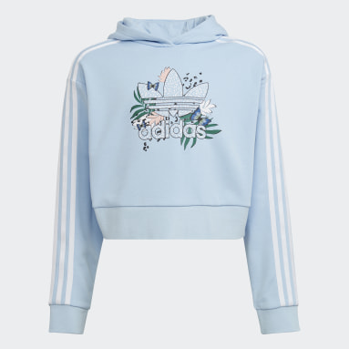 Sudadera Corta con Gorro HER Studio London Animal Flower Print Azul Niña Originals