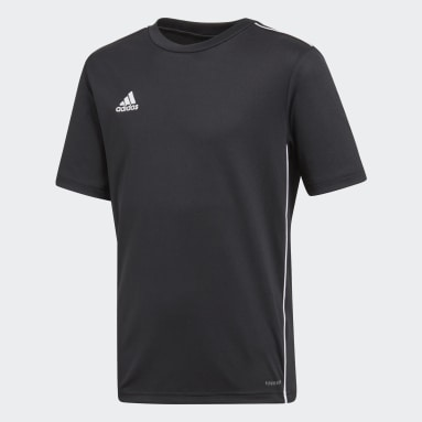 Playera entrenamiento Core 18 (UNISEX) Negro Niño Fútbol