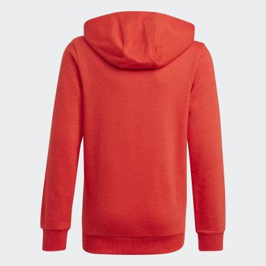 เด็กผู้ชาย ไลฟ์สไตล์ สีแดง เสื้อฮู้ด adidas Essentials