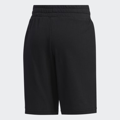Girls Training Black Knit Shorts