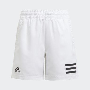 Jungen Tennis Club Tennis 3-Streifen Shorts Weiß