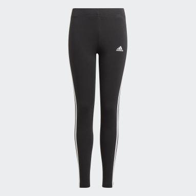 Youth 8-16 Years Sportswear Black adidas Essentials 3-Stripes Leggings