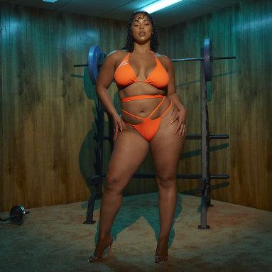Women Originals Orange Wrap Bikini Bottom (Plus Size)