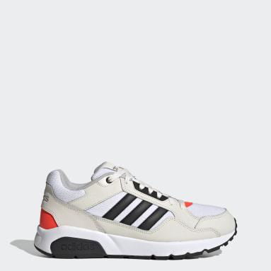Men Sport Inspired White 90s Runner Shoes