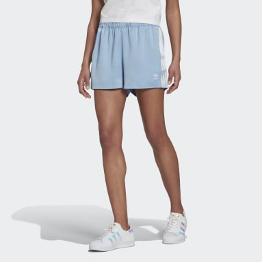 Shorts Adicolor Classics Satén Azul Mujer Originals